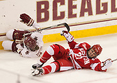 Andie Anastos (BC - 23), Natalie Flynn (BU - 21) - The Boston College Eagles defeated the visiting Boston University Terriers 5-3 (EN) on Friday, November 4, 2016, at Kelley Rink in Conte Forum in Chestnut Hill, Massachusetts.The Boston College Eagles defeated the visiting Boston University Terriers 5-3 (EN) on Friday, November 4, 2016, at Kelley Rink in Conte Forum in Chestnut Hill, Massachusetts.