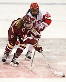 Kali Flanagan (BC - 10), Nina Rodgers (BU - 23) - The Boston College Eagles defeated the Boston University Terriers 3-2 in the first round of the Beanpot on Monday, January 31, 2017, at Matthews Arena in Boston, Massachusetts.