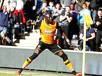 Hull City v Bristol City 2.4.16 .Sky Bet Championship ....... Hulls Mo Diame scores his sides third goal