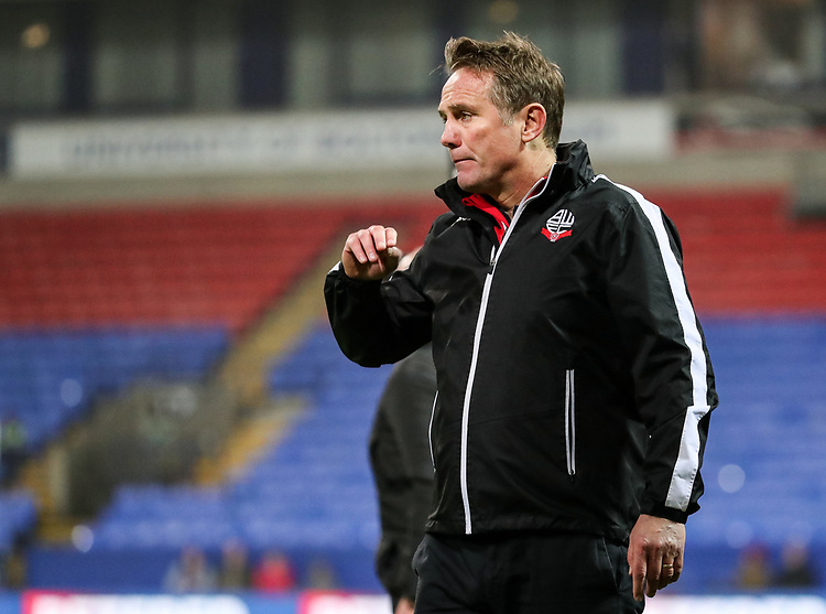 Bolton Wanderers' manager Phil Parkinson<br /> <br /> Photographer Andrew Kearns/CameraSport<br /> <br /> The EFL Sky Bet Championship - Bolton Wanderers v Rotherham United - Wednesday 26th December 2018 - University of Bolton Stadium - Bolton<br /> <br /> World Copyright © 2018 CameraSport. All rights reserved. 43 Linden Ave. Countesthorpe. Leicester. England. LE8 5PG - Tel: +44 (0) 116 277 4147 - admin@camerasport.com - www.camerasport.com