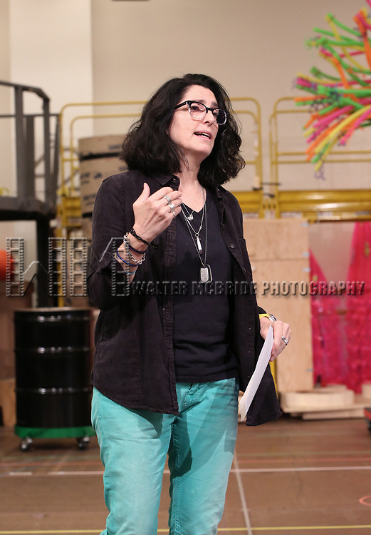 Tina Landau during the Rehearsal Press Preview of the New Broadway  Musical on 'SpongeBob SquarePants'  on October 11, 2017 at the Duke 42nd Street Studios in New York City.