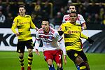 10.02.2018, Signal Iduna Park, Dortmund, GER, 1.FBL, Borussia Dortmund vs Hamburger SV, <br /> <br /> im Bild | picture shows:<br /> <br /> Bobby Wood (Hamburger SV #7) gegen Manuel Akanji (Borussia Dortmund #16), <br /> <br /> Foto &copy; nordphoto / Rauch