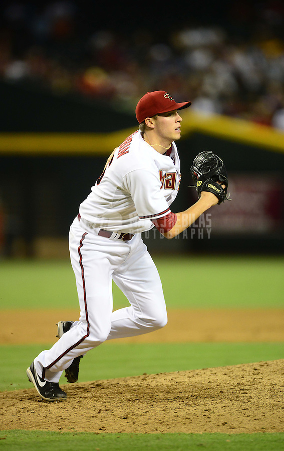 Jul. 3, 2012; Phoenix, AZ, USA: Arizona Diamondbacks pitcher Patrick Corbin against the San Diego Padres at Chase Field. Mandatory Credit: Mark J. Rebilas-