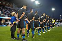 San Jose, CA - Saturday September 15, 2018: San Jose Earthquakes  prior to a Major League Soccer (MLS) match between the San Jose Earthquakes and Sporting Kansas City at Avaya Stadium.