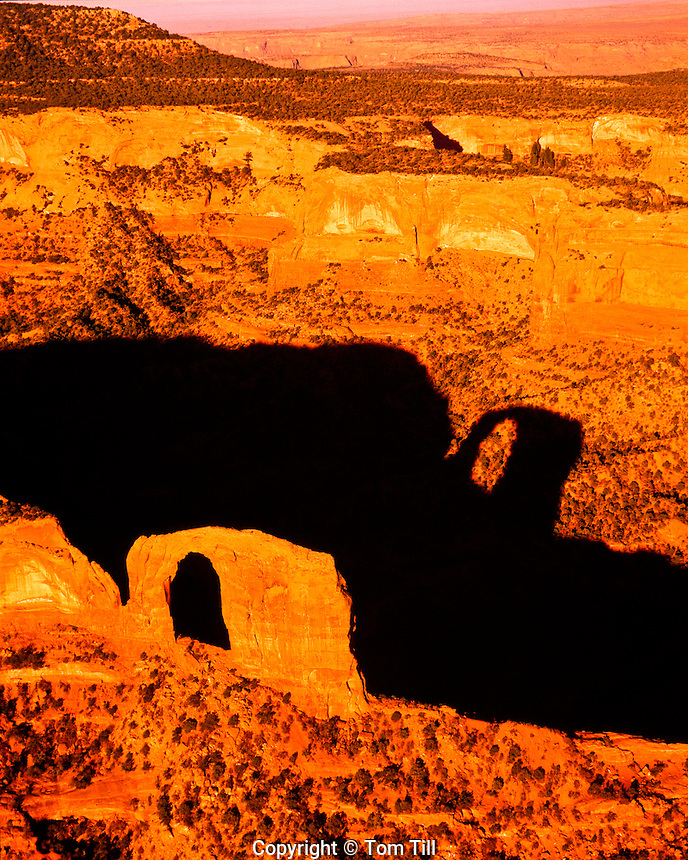 Luchachukai Arch  Navajo Reservation, Arizona   Aerial view of huge natural arch   Also called Gregg Arch