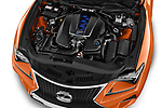 Car Stock 2017 Lexus RC F-GT 2 Door Coupe Engine  high angle detail view