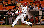 19 May 2007: Washington Nationals catcher Brian Schneider in action against the Baltimore Orioles at RFK Stadium in Washington, DC. The Orioles defeated the Nationals 3-2 in the second game of the 3-game interleague series...Mandatory Photo Credit: Ed Wolfstein Photo