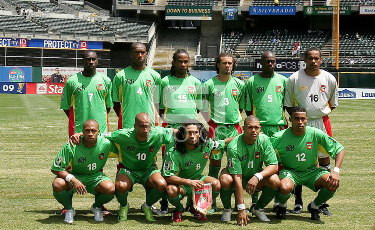 Guadeloupe Starting Eleven. Guadeloupe defeated Panama 2-1 during the First Round of the 2009 CONCACAF Gold Cup at Oakland Coliseum in Oakland, California on July 4, 2009.