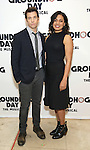 """Andy Karl and Barrett Doss  attend the """"Groundhog Day'' press day at The New 42nd Street Studios on February 2, 2017 in New York City."""