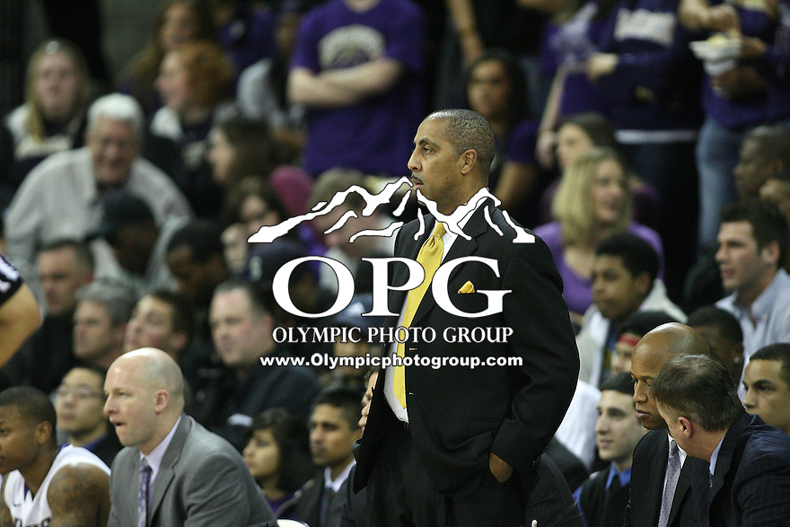Mar 05, 2011:  Washington head coach Lorenzo Romar watches his team from the bench against USC.  USC defeated Washington 62-60 at Alaska Airlines Arena Seattle, Washington...