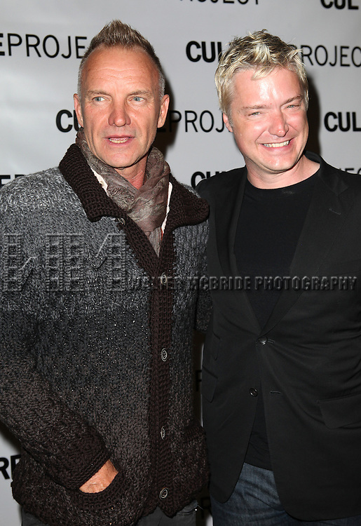 Sting & Chris Botti  attending the after Party for 10th Anniversary Production of 'The Exonerated' at the Culture Project in New York City on 9/19/2012.