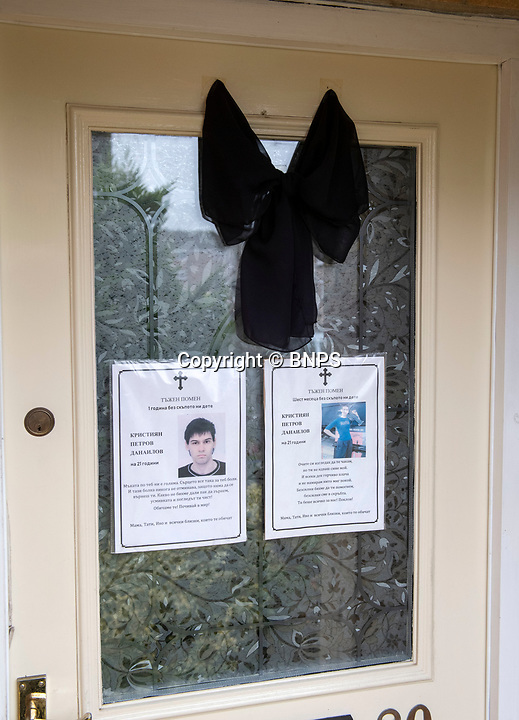 BNPS.co.uk (01202 558833)<br /> Picture: PhilYeomans/BNPS<br /> <br /> Elana Danailov's tribute to her son Kristiyan on the front door of their house - A Bulgarian tradition..<br /> <br /> A distraught mother today called on the government to introduce stricter internet controls after her son was able to buy cyanide online and use it take his own life.<br /> <br /> Kristiyan Danailov, who was aged 21, invented a fake business name and emailed a company in Essex to send him the lethal substance in the post.<br /> <br /> According to his mother Elana Danailova, all her son had to do was tick a box on a website to confirm he was a legitimate trader in order for the poison to be dispatched.<br /> <br /> It arrived through his door days later and Mr Danailov was found dead in the bedroom of his family home in Bournemouth, Dorset.