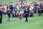 Washington, DC - (FILE) -- United States President Ronald Reagan, right, and Prime Minister Margaret Thatcher of Great Britain, left, walk in front of photographers and guests after reviewing the troops during a welcoming ceremony in her honor on the South Lawn of the White House in Washington, D.C. on Wednesday, November 16, 1988.  .Credit: Ron Sachs / CNP