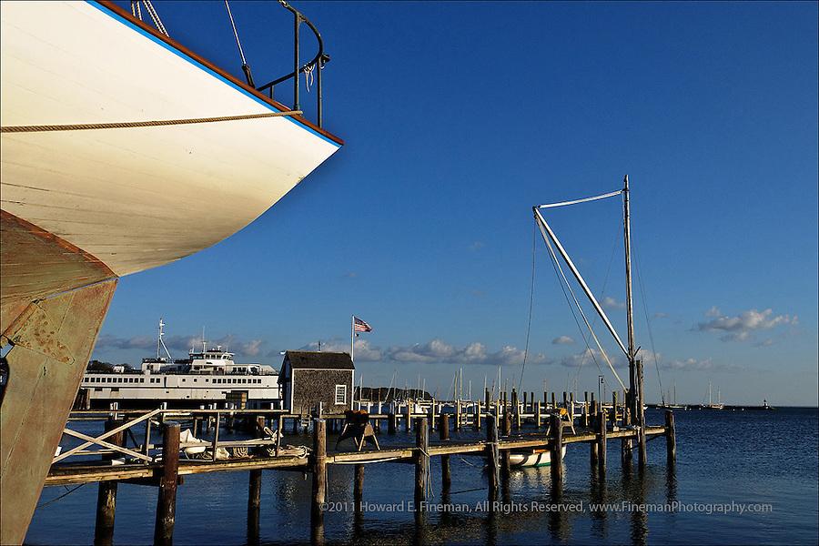 Vineyard Haven Harbor from Gannon & Benjamin Boatyard, Martha's Vineyard