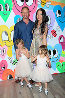 """WEST HOLLYWOOD - JUN 15: Ian Ziering, Erin Ziering, Mia Ziering, Penna Ziering at the """"At Home with the Zierings"""" Blog Launch Party at Au Fudge on June 15, 2016 in West Hollywood, California"""