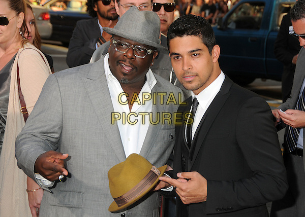 "Cedric The Entertainer (Cedric Antonio Kyles) & Wilmer Valderrama.""Larry Crowne"" Los Angeles Premiere held at Grauman's Chinese Theatre, Hollywood, California, USA..June 27th, 2011.half length shirt suit hat white grey gray glasses black brown.CAP/ADM/BP.©Byron Purvis/AdMedia/Capital Pictures."