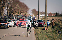 crash in the peloton<br /> <br /> 50th GP Samyn 2018<br /> Quaregnon &gt; Dour: 200km (BELGIUM)