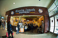 Gloria Jean's Coffees at the Queens Center Mall in the borough of Queens in New York on Saturday, November 26, 2011. The cafe chain, started near Chicago in 1979,  has 102 franchise locations in 24 states. (© Richard B. Levine)