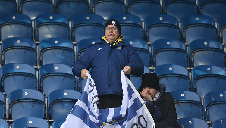 Preston fans<br /> <br /> Photographer Rob Newell/CameraSport<br /> <br /> The EFL Sky Bet Championship - Queens Park Rangers v Preston North End - Saturday 19 January 2019 - Loftus Road - London<br /> <br /> World Copyright &copy; 2019 CameraSport. All rights reserved. 43 Linden Ave. Countesthorpe. Leicester. England. LE8 5PG - Tel: +44 (0) 116 277 4147 - admin@camerasport.com - www.camerasport.com