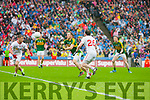 Darran O'Sullivan, Kerry in Action Against Barry Tierney, Tyrone in the All Ireland Semi Final at Croke Park on Sunday.