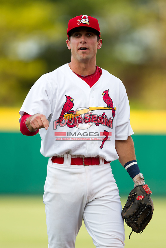 Greg Garcia (7) of the Springfield Cardinals prior to a game against the Arkansas Travelers at Hammons Field on June 13, 2012 in Springfield, Missouri. (David Welker/Four Seam Images)