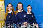 Pictured at the Science quiz at IT Tralee South Campus on Thursday were students from Presentation Secondary, Tralee, Leona Stack, Lucy McGrath and Aisling Mahony