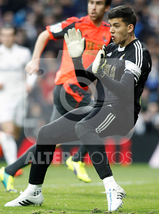 Real Sociedad's Geronimo Rulli during La Liga match.January 31,2015. (ALTERPHOTOS/Acero)