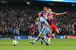 Sergio Aguero of Manchester Cityscores the third goal - UEFA Champions League group E - Manchester City vs Bayern Munich - Etihad Stadium - Manchester - England - 25rd November 2014  - Picture Simon Bellis/Sportimage