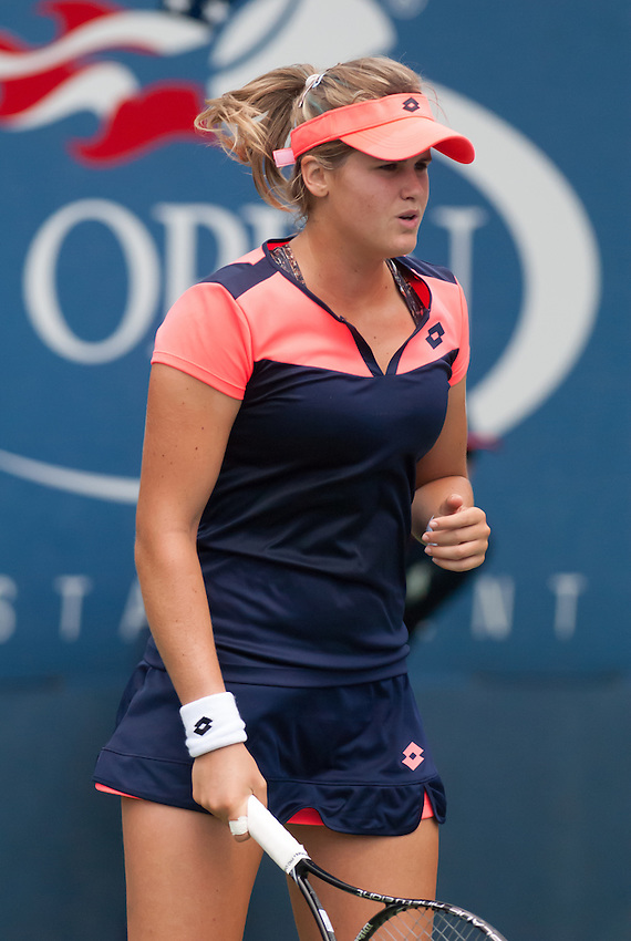 NEW YORK, NY - August 26, 2013: Maria-Teresa Torro-Flor during her first round single's match at the 2013 US Open in New York, NY on Monday, August 26, 2013.