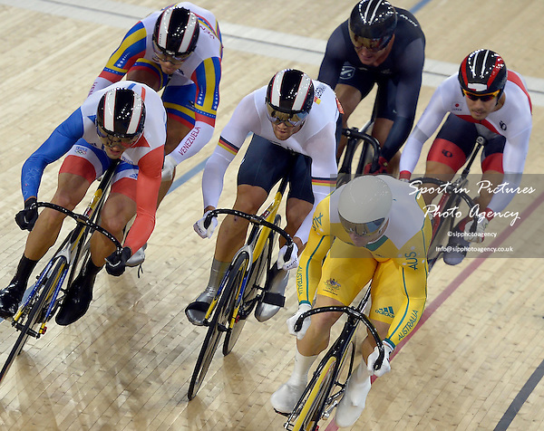 Shane Perkins (AUS, Australia) leads into the final lap of the kierin. Track Cycling - PHOTO: Mandatory by-line: Garry Bowden/SIP/Pinnacle - Photo Agency UK Tel: +44(0)1363 881025 - Mobile:0797 1270 681 - VAT Reg No: 768 6958 48 - 07/08/2012 - 2012 Olympics -Velodrome, Olympic Park, London, England