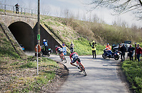Fumy Beppu (JAP/Trek-Segafredo) &amp; Marco Coledan (ITA/Trek-Segafredo) close to catching a proceeding group<br /> <br /> 60th E3 Harelbeke (1.UWT)<br /> 1day race: Harelbeke &rsaquo; Harelbeke - BEL (206km)
