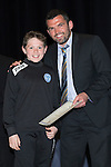 St Johnstone FC Youth Academy Presentation Night at Perth Concert Hall..21.04.14<br /> Callum Davidson presents to Andrew McKenzie<br /> Picture by Graeme Hart.<br /> Copyright Perthshire Picture Agency<br /> Tel: 01738 623350  Mobile: 07990 594431