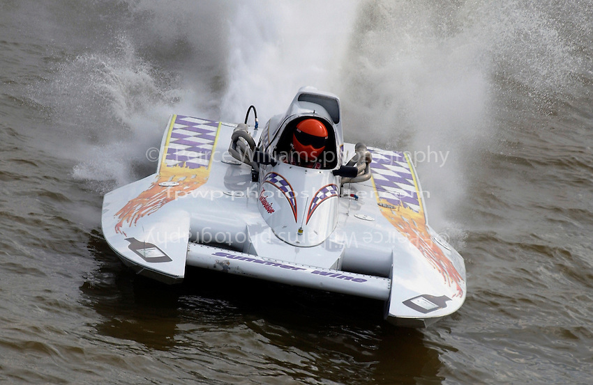 """Marty Wolfe, NM-6 """"Summer Wine"""", National Mod class hydroplane"""