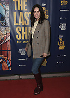 """LOS ANGELES - JANUARY 22:  Courteney Cox at the opening night of """"The Last Ship"""" on January 22, 2020 at the Ahmanson Theatre in Los Angeles, California. (Photo by Scott Kirkland/PictureGroup)"""