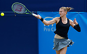 June 14th 2017, The Northern Lawn tennis Club, Manchester, England; ITF Womens tennis tournament; Samantha Murray (GBR) in action during her first round singles match against Katie Boulter (GBR)