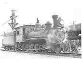 Engineer's-side view of RGS 2-8-0 #40 near the Durango sand house.<br /> RGS  Durango, CO  1940