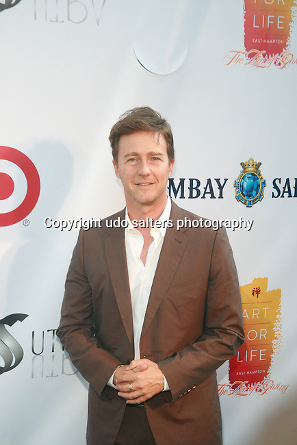 Actor and Honoree Edward Norton Attends Russell Simmons' 12th Annual Art for Life East Hampton Benefit, NY 7/30/11