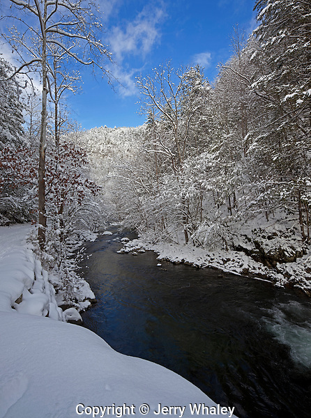 Little River, Winter, Snow, Tremont, Great Smoky Mountains NP