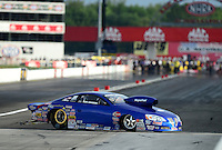 Aug. 31, 2012; Claremont, IN, USA: NHRA pro stock driver Kurt Johnson during qualifying for the US Nationals at Lucas Oil Raceway. Mandatory Credit: Mark J. Rebilas-