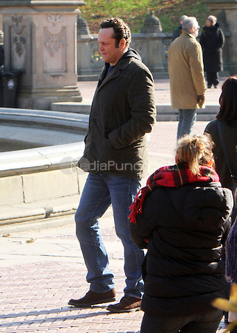 NEW YORK, NY - NOVEMBER 26: Vince Vaughn on the set of The Delivery Man in New York City. November 26, 2012. Credit: RW/MediaPunch Inc.