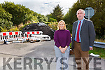 Councillors Norma Moriarty & Michael Cahill at Carhan Road Cahersiveen where waste rubble was dumped from the road improvements two years ago and has now been given the all clear from the EPA to be removed.