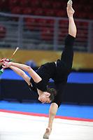 September 8, 2018 - Sofia, Bulgaria - KATSIARYNA HALKINA of Belarus performs during early trainings at 2018 World Championships.