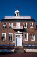 Historic courthouse, front view, New Castle, Delaware