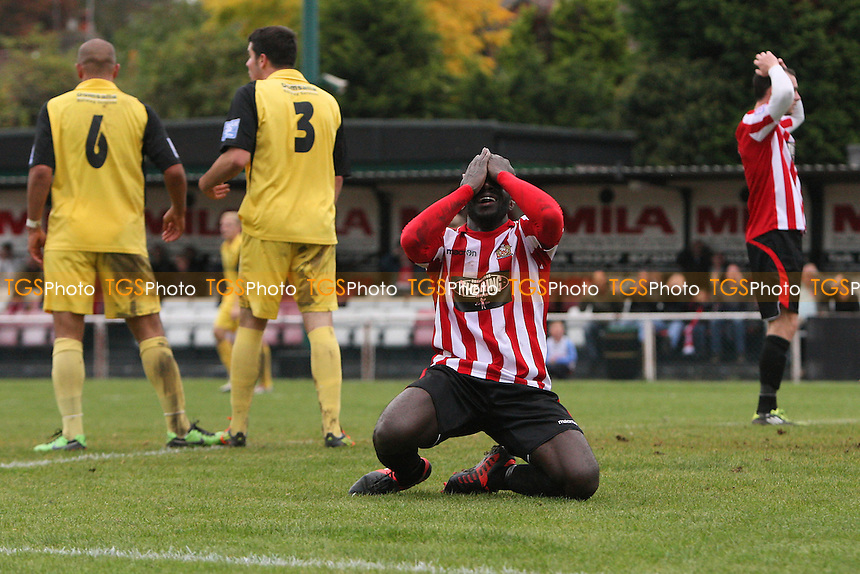 Wayne Gray reacts after going close to an equalising goal for Hornchurch - AFC Hornchurch vs Eastbourne Borough - Blue Square Conference South Football at The Stadium, Upminster Bridge, Essex - 20/10/12 - MANDATORY CREDIT: Gavin Ellis/TGSPHOTO - Self billing applies where appropriate - 0845 094 6026 - contact@tgsphoto.co.uk - NO UNPAID USE.
