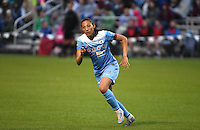 Kansas City, MO - Friday May 13, 2016: Chicago Red Stars forward Christen Press (23) against FC Kansas City during a regular season National Women's Soccer League (NWSL) match at Swope Soccer Village. The match ended 0-0.