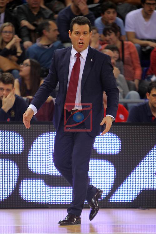 Turkish Airlines Euroleague 2016/2017.<br /> Regular Season - Round 24.<br /> FC Barcelona Lassa vs CSKA Moscow: 61-85.<br /> Dimitris Itoudis.