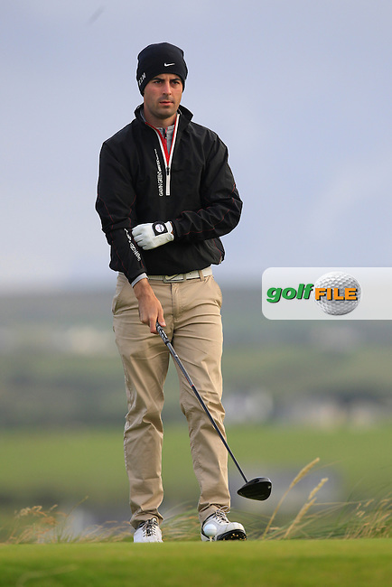 Liam Hutchinson (The Royal Dublin) on the 2nd tee during Round 2 of the South of Ireland Amateur Open Championship at LaHinch Golf Club on Thursday 23rd July 2015.<br /> Picture:  Golffile | Thos Caffrey