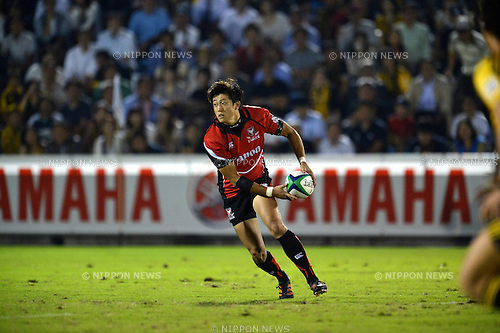 Kosuke Hashino (Eagles),.SEPTEMBER 22, 2012 - Rugby : Japan Rugby Top League 2012-2013, 4th Sec match between Suntory Sungoliath 42-17 Canon Eagles at Chichibunomiya Rugby Stadium, Tokyo, Japan. (Photo by Jun Tsukida/AFLO SPORT).