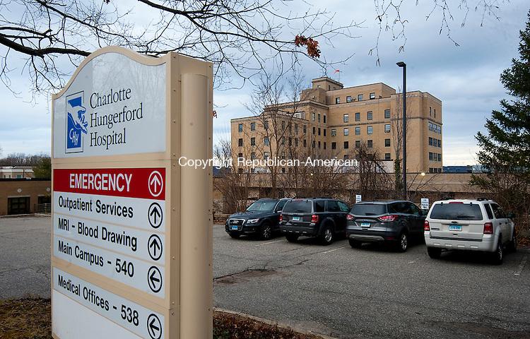TORRINGTON, CT--- -122615JS02--Charlotte Hungerford Hospital in Torrington. <br /> Jim Shannon Republican-American