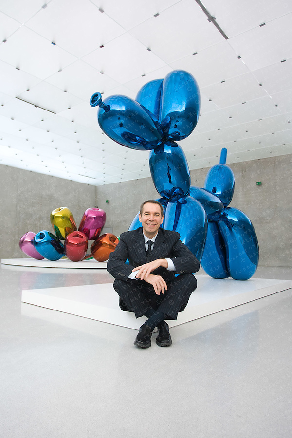 Jeff Koons, an American artist known for his reproductions of banal objects--such as balloon animals produced in stainless steel with mirror finish surfaces.Koons' work has sold for substantial sums of money including at least one world record auction price for a work by a living artist.